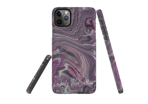 Pink Marble snap phone case by Wendy McCallum