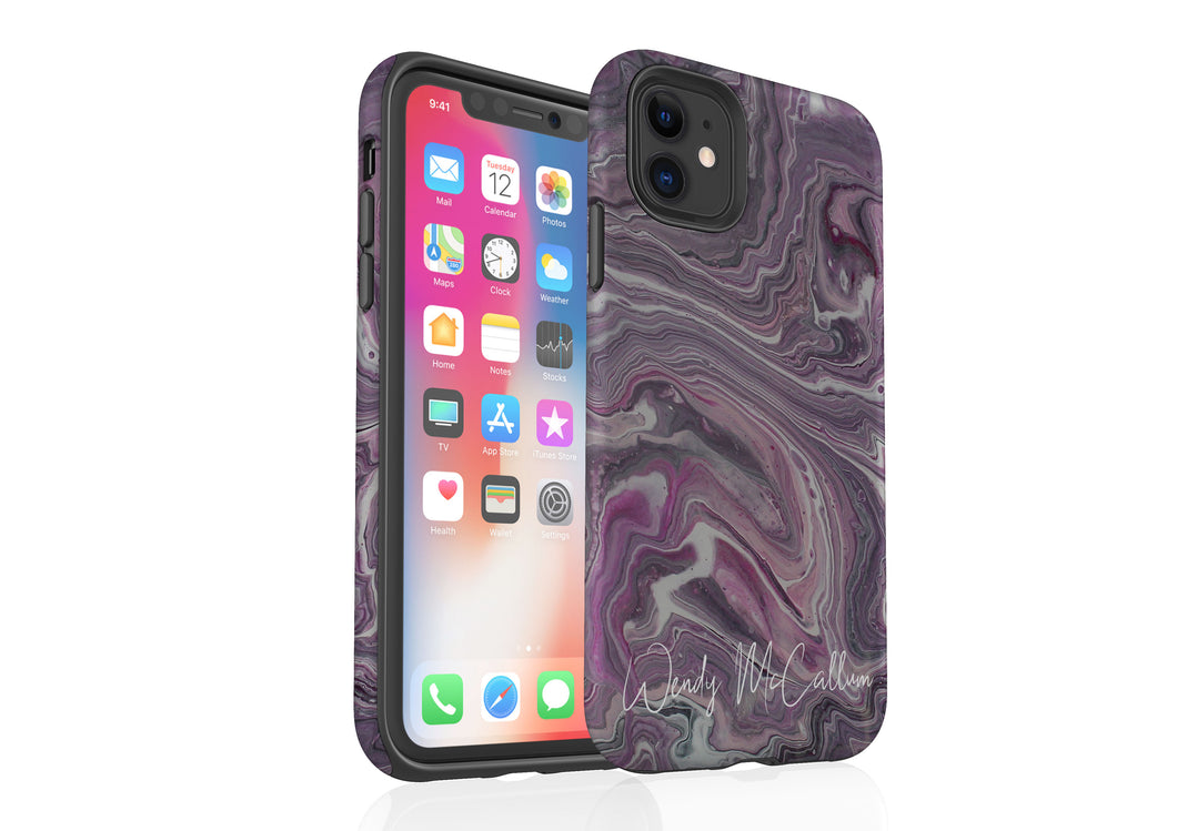 Pink Marble - Tough Phone Case