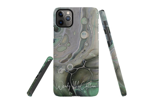 Pistachio snap phone case