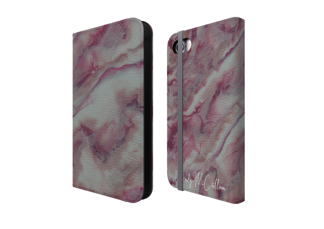 Raspberry Ripple - Flip Phone Case
