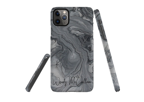 Shades of Grey snap phone case by Wendy
