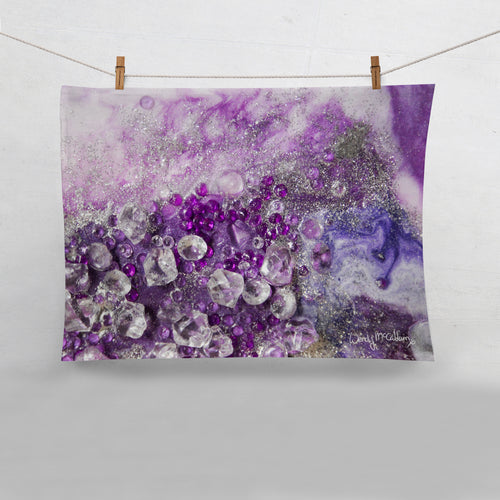 Amethyst Dreams Tea Towel - Elegance