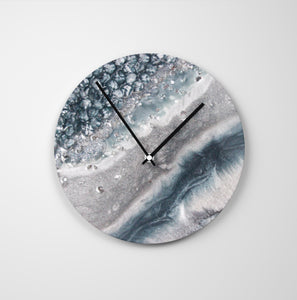 Vista Round Glass Wall Clock - Grace
