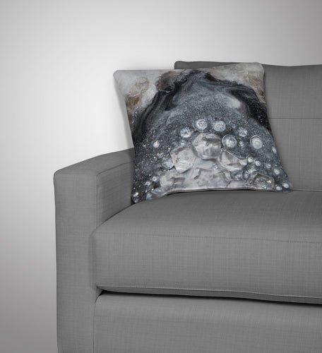 Grey Moonstone Cushion - Elegance