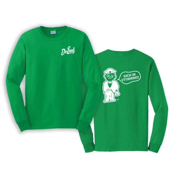 Dr. Enuf Green Double Logo Long Sleeve