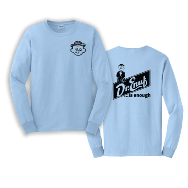 Dr. Enuf Blue Double Logo Long Sleeve