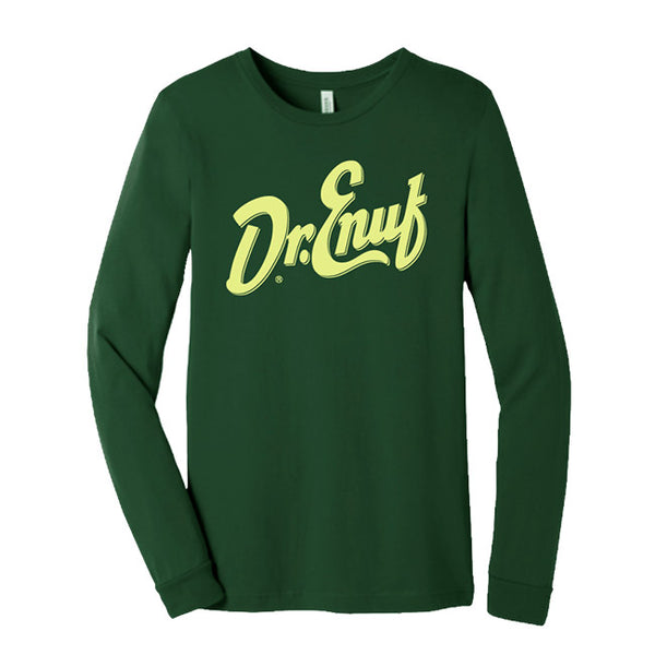 Dr. Enuf Lime Green Logo Long Sleeve