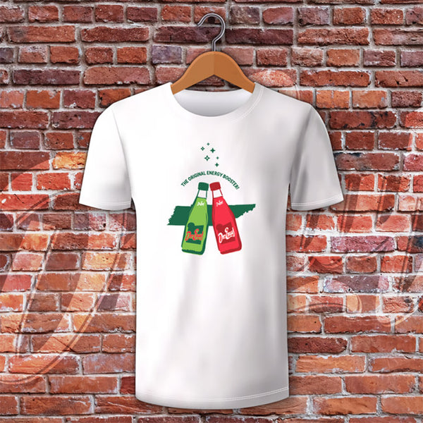 2 Color Bottle T-Shirt - Dr. Enuf Green and Red