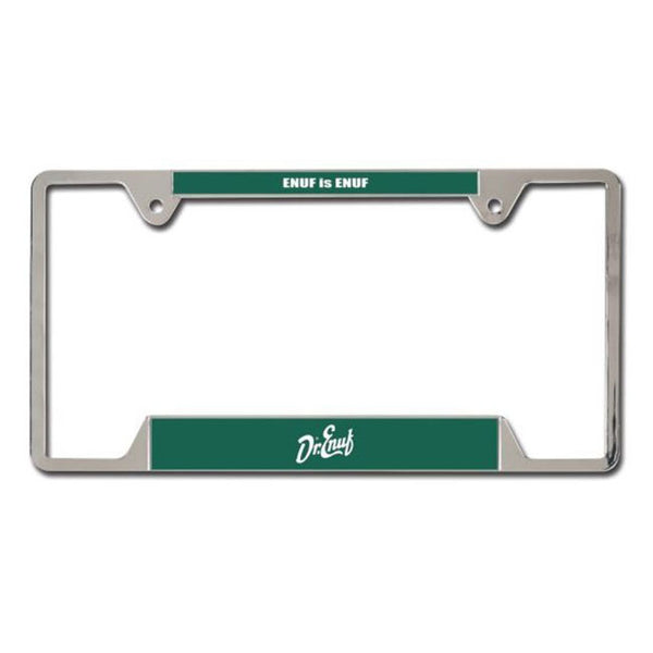 Dr. Enuf Metal License Plate Frame