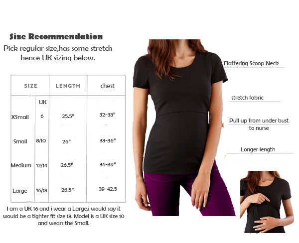 sizing mama feelsgood nursing tops