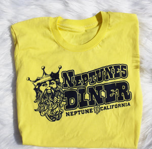50's style graphic tee, Neptune Diner short sleeve tshirt