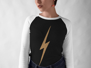 vintage womens baseball lightening flash top
