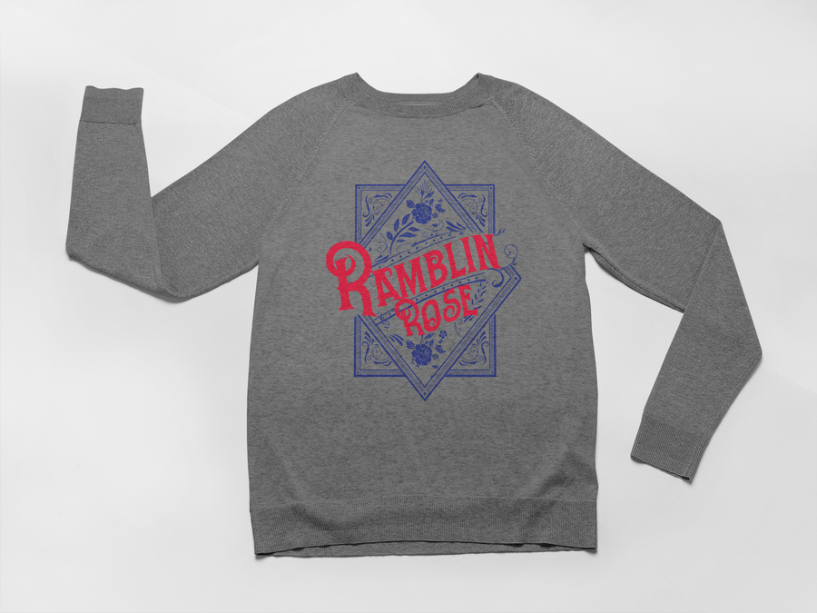 western inspired ramblin rose sweatshirt