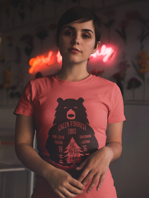 red mama bear graphic tshirt, mama feelsgood