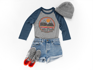 twin peaks national parks womens baseball top mama feelsgood