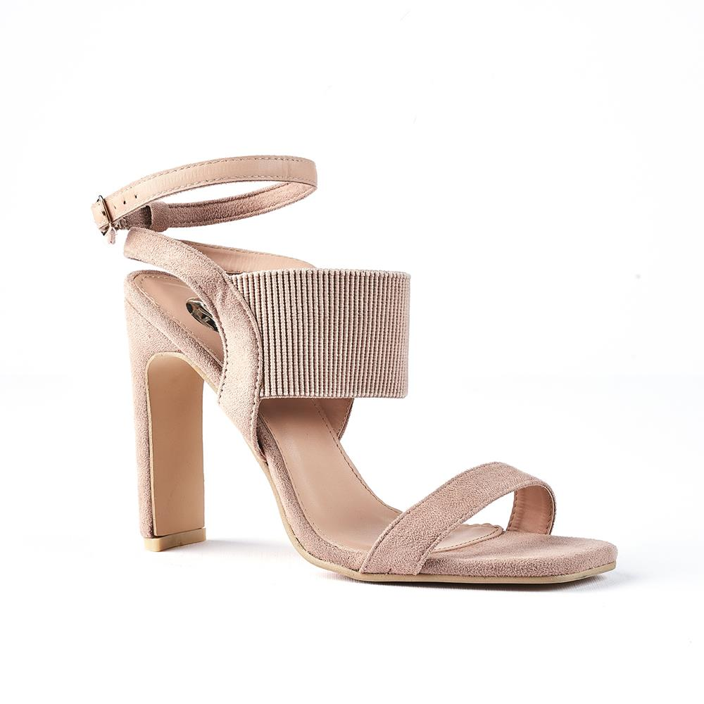 Footworks Everly Suede Sandal With Ankle Strap - Taupe