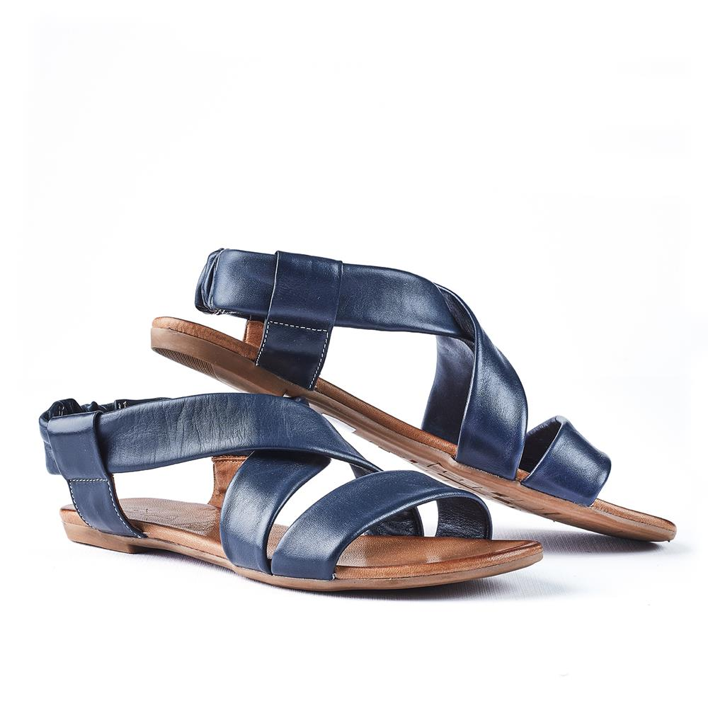 Gia Lucy Tubular Sandal With Slingback - Navy