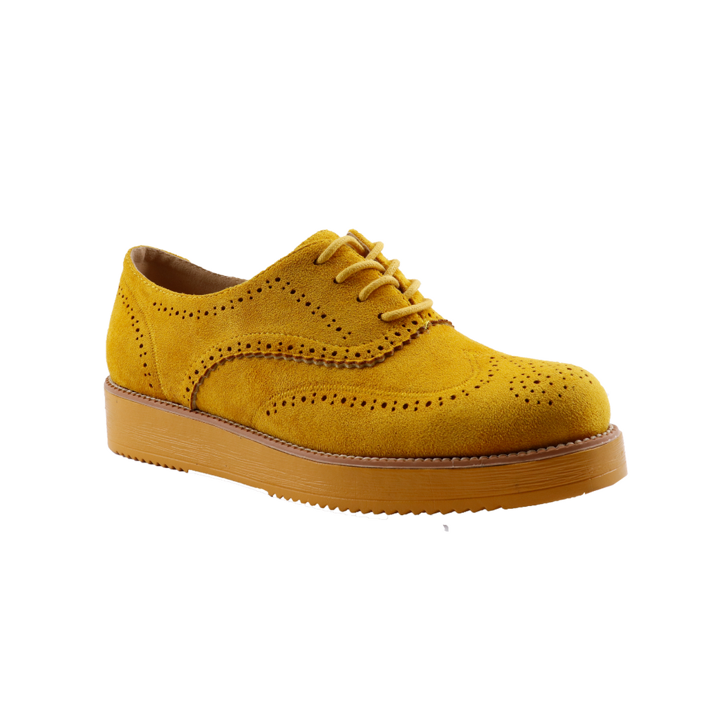 Plum Bray Mustard Suede Lace up