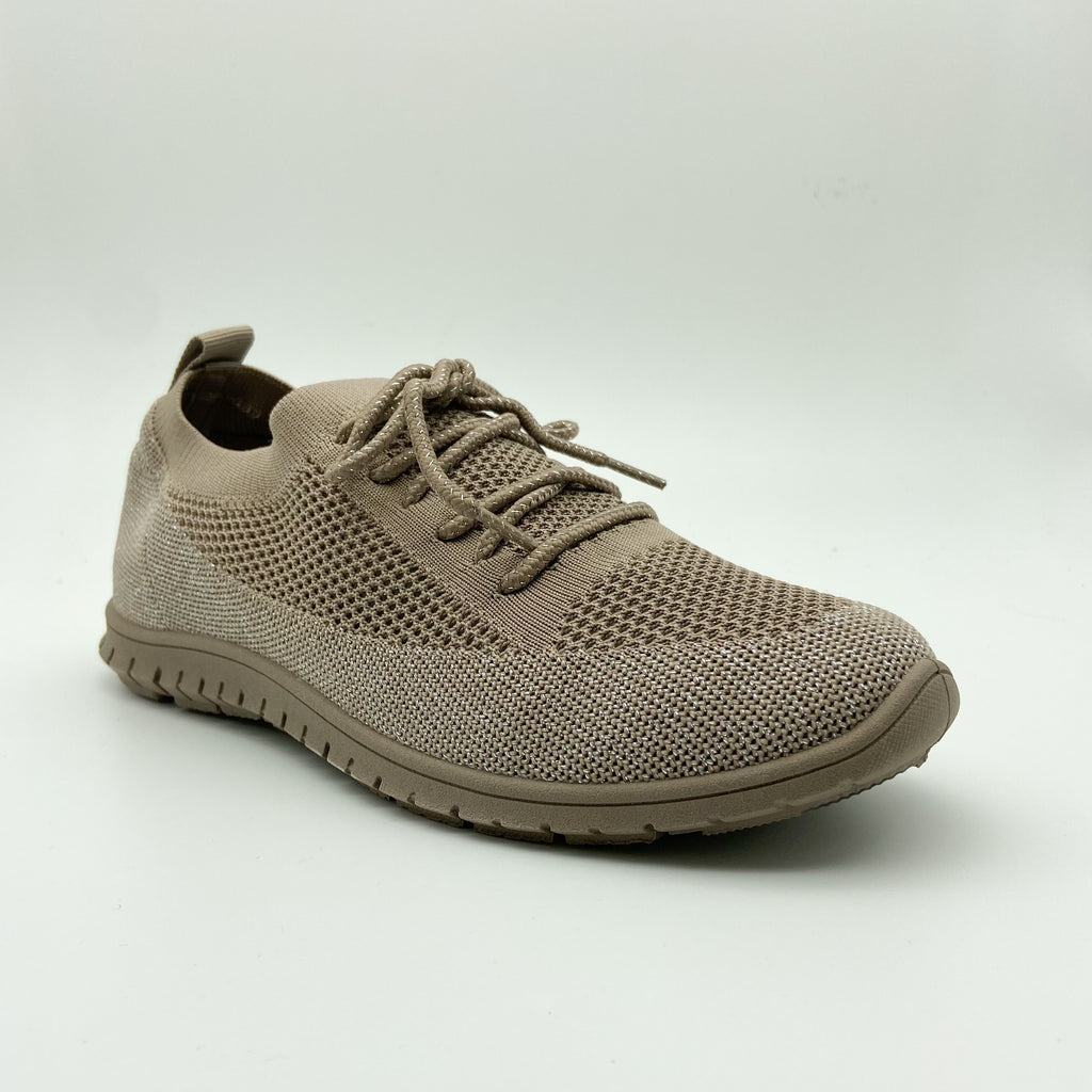 Hush Puppies Taupe Slip on Sneaker