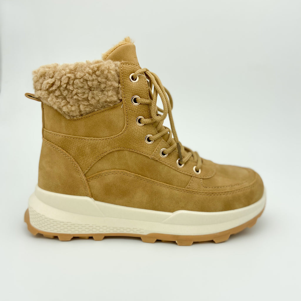 K7 Camel Lace Up Boot