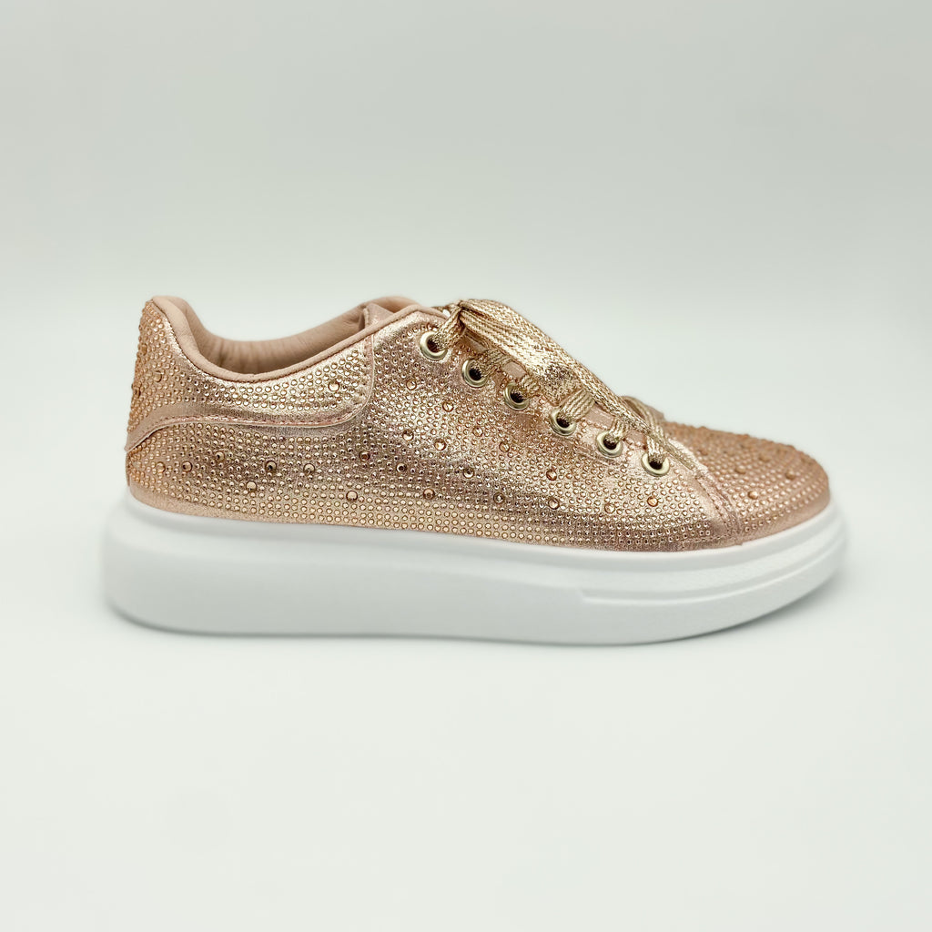 KG Powder Rose Gold Lace Up Sneaker