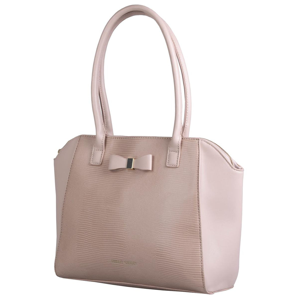 Pierre Cardin Structured Bag with Bow - Nude