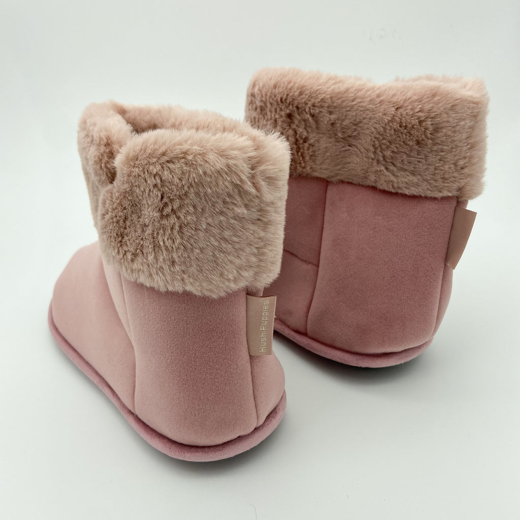 Hush Puppies Pink Fur Lined Slipper Boot
