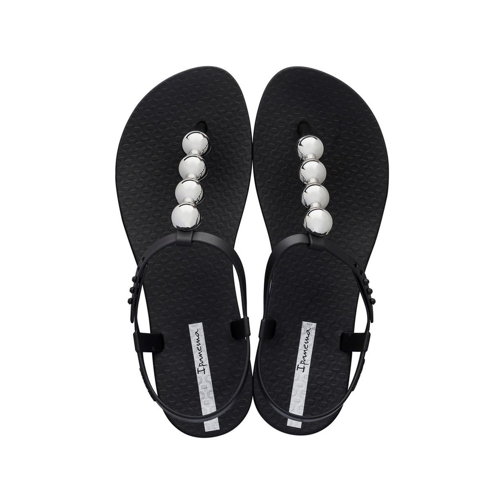 Ipanema Ball Trimmed Sandal - Black/Silver