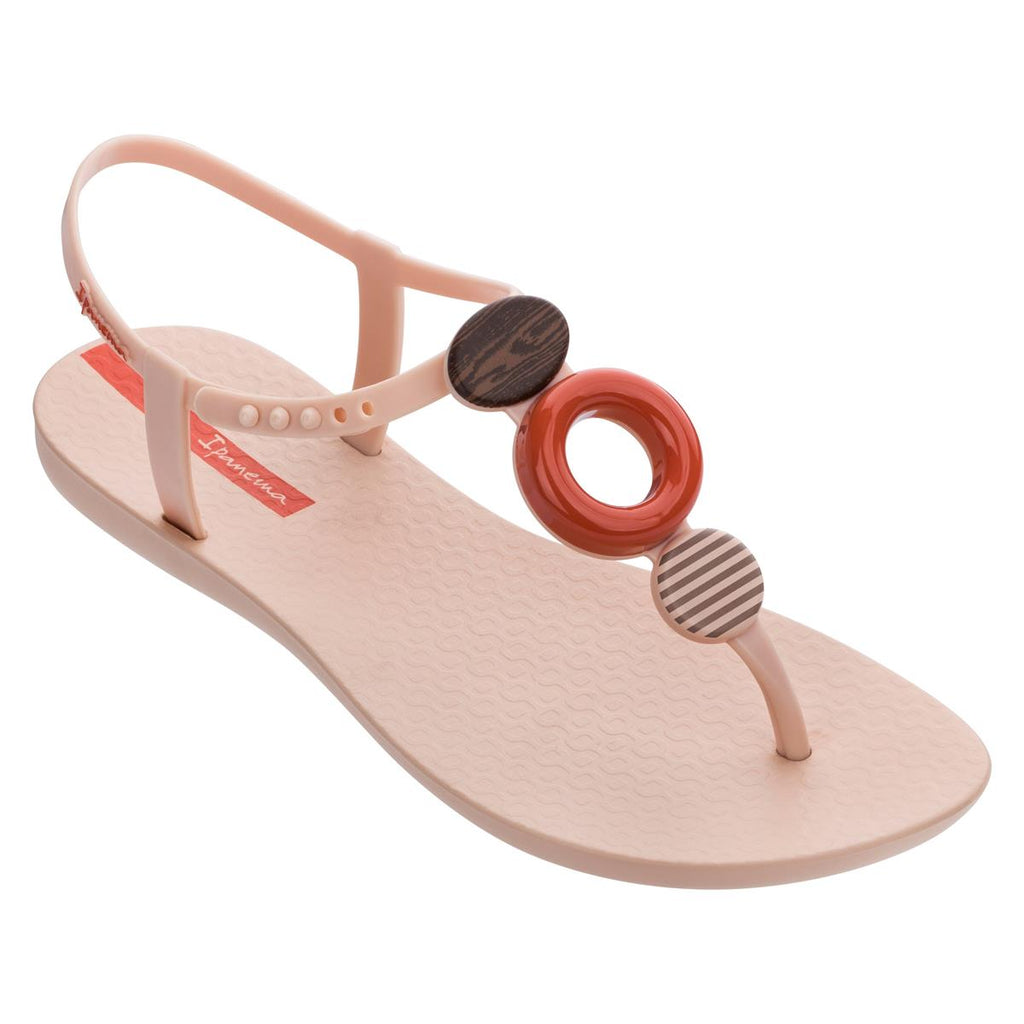 Ipanema Trimmed Sandal - Beige & Orange