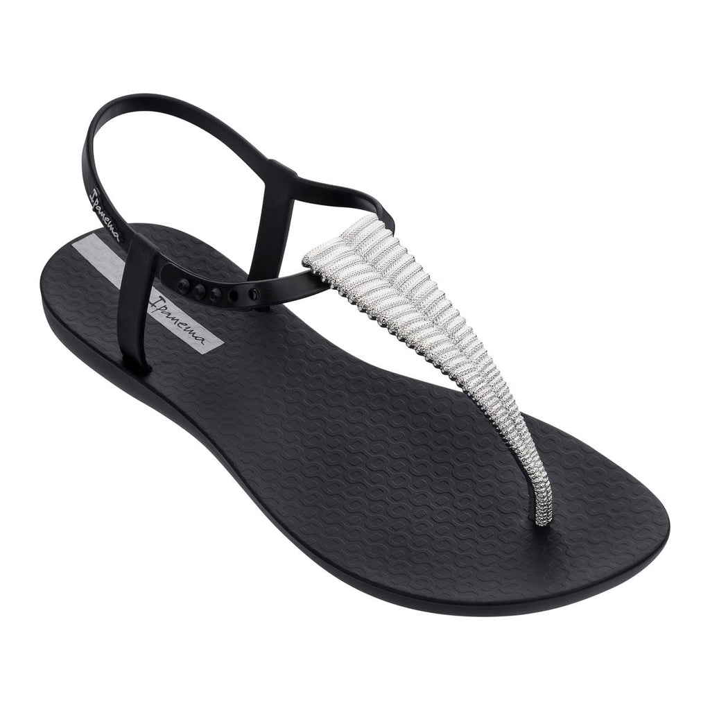 Ipanema Trimmed Sandal - Black/Silver
