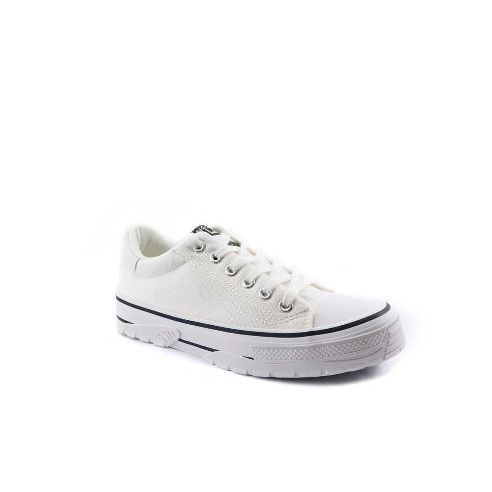 Kangol White Lace Up Sneaker