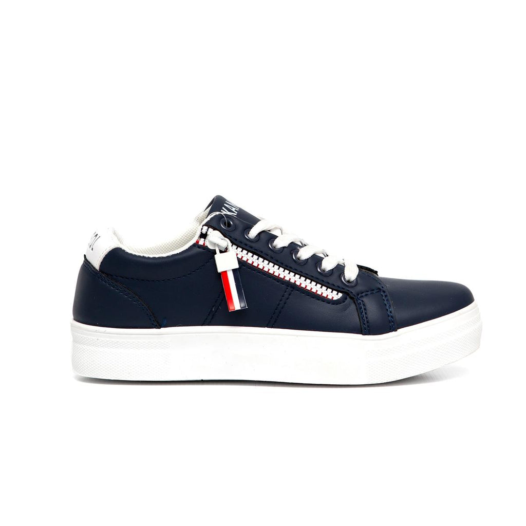Kangol Lace up Platform Sneaker - Navy