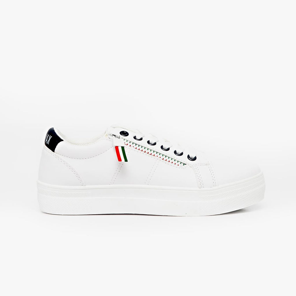 Kangol Lace up Platform Sneaker - White