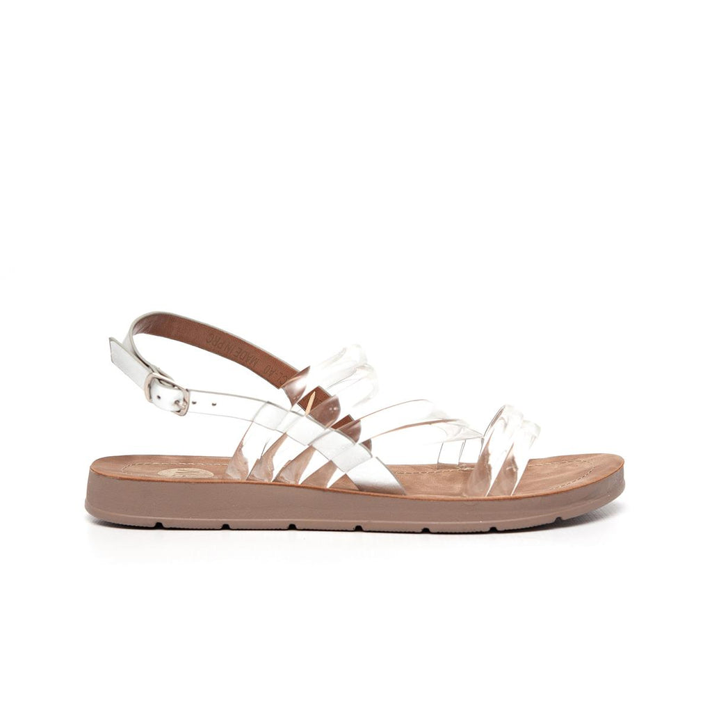 Footworks Vinyl Strappy Flat Sandal - Clear