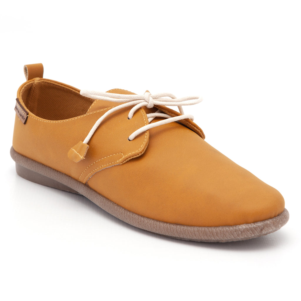 Pierre Cardin Jessy Mustard Lace Up