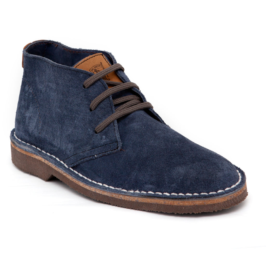 Jim Green Ash Navy Suede Lace Up