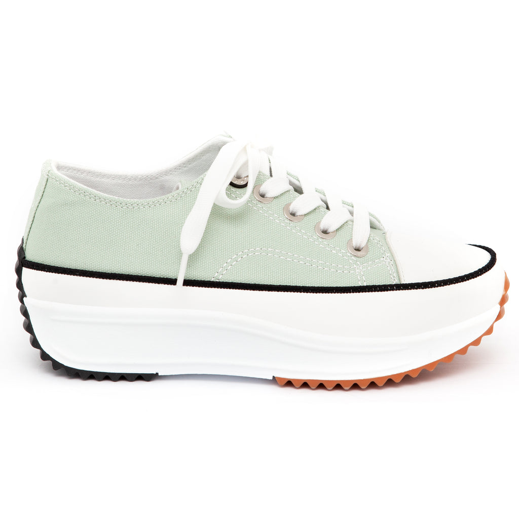 Pierre Cardin Lynn Sage Lace Up Sneaker