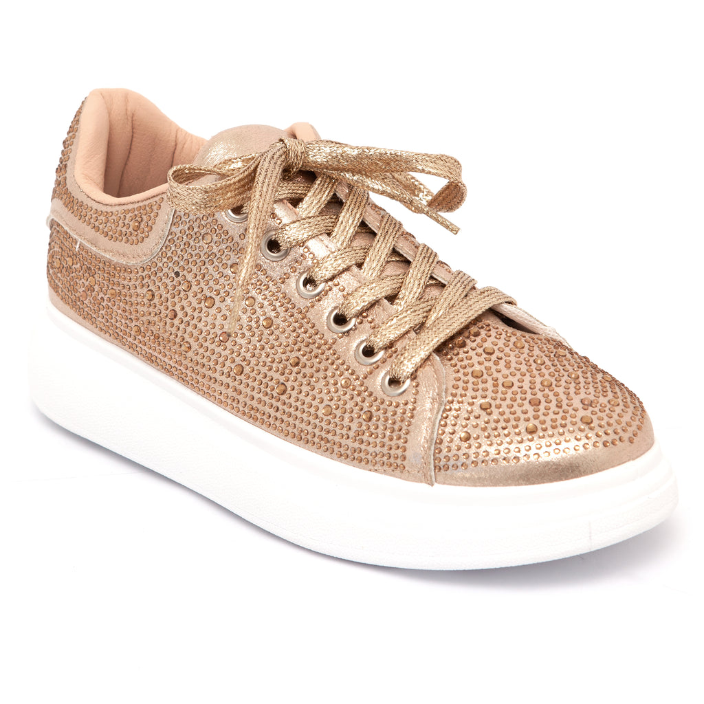 KG Powder Gold Lace Up Sneaker