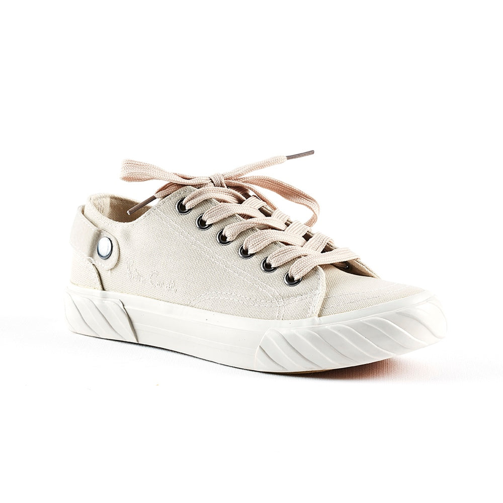 Pierre Cardin Lace Up Sneaker - Natural