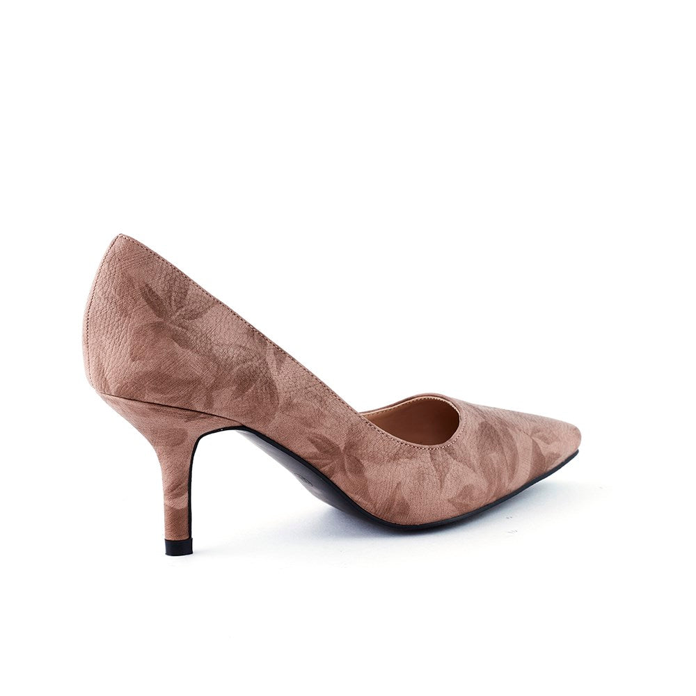Queue Isabella Pointy Court Shoe - Mink