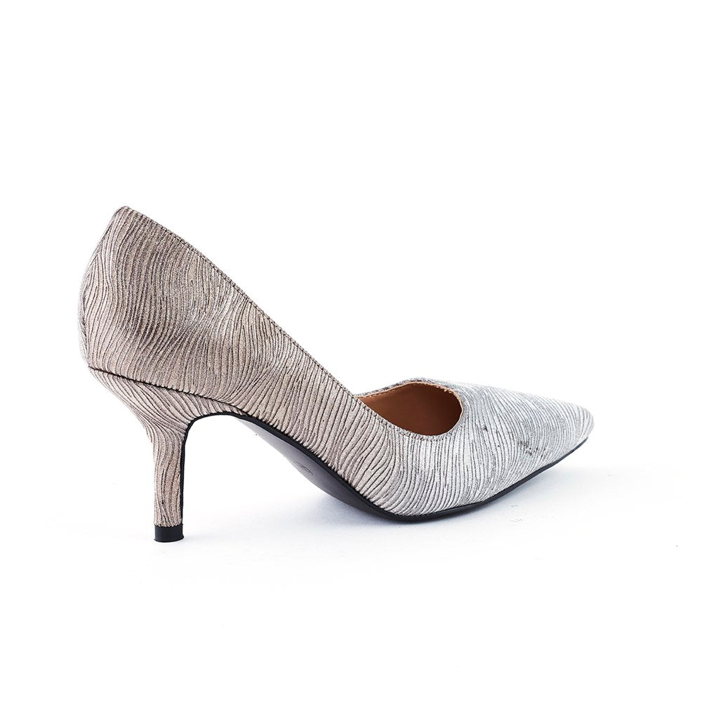 Wild Alice Mila Pointy Court Shoe - Silver Ombre