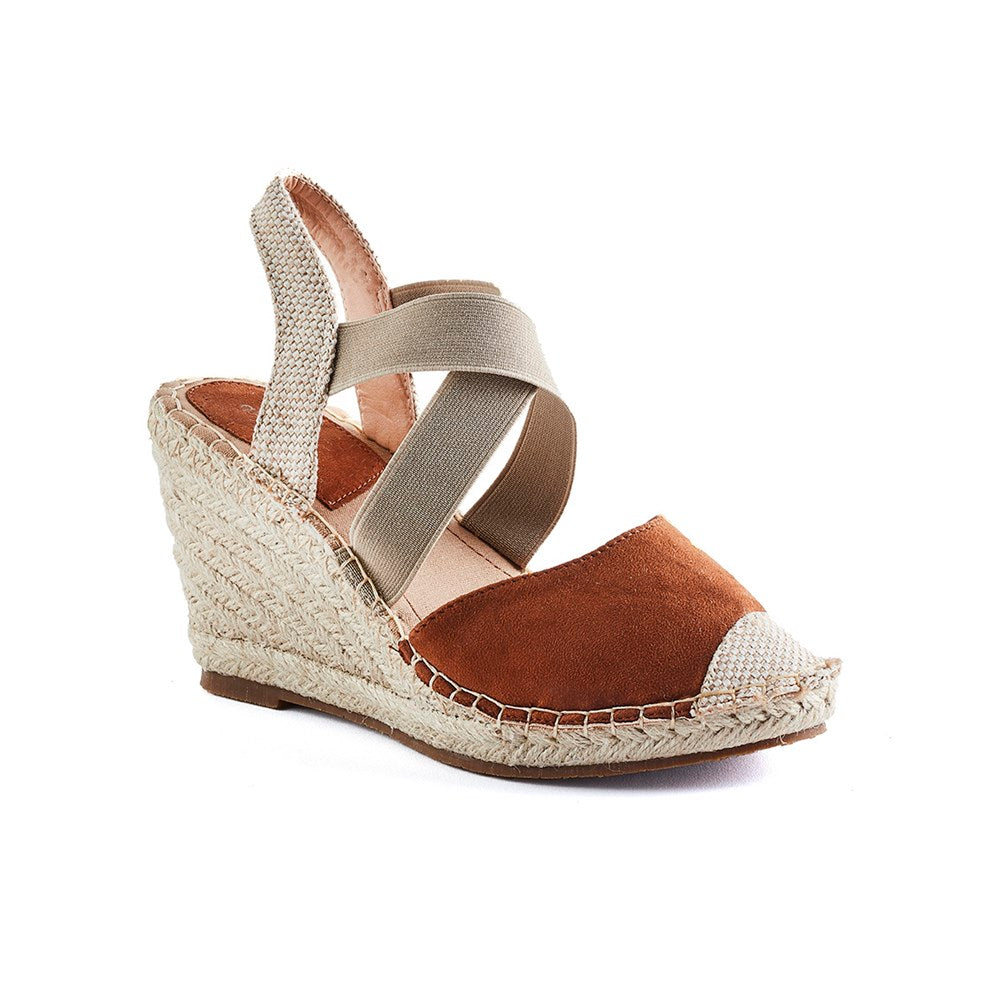Queue Emma Espadrille Casual Wedge - Tan