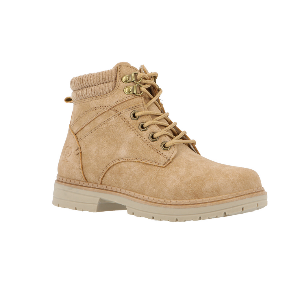 Pierre Cardin Camel Lace Up Boot