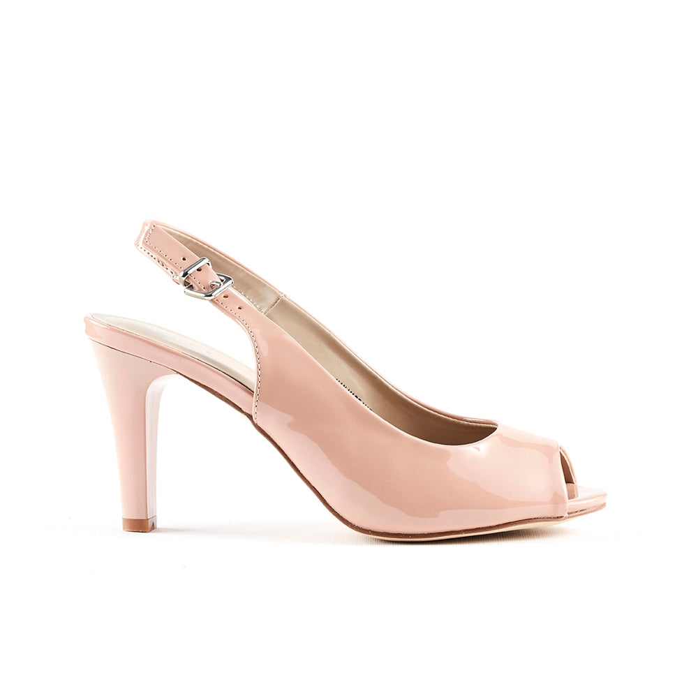 Queue Slingback Peeptoe - Mink