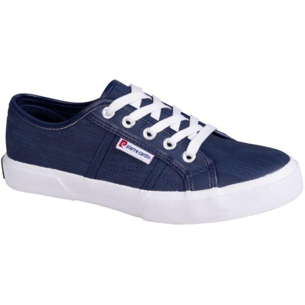 Pierre Cardin Lace up Denim Sneaker - Blue