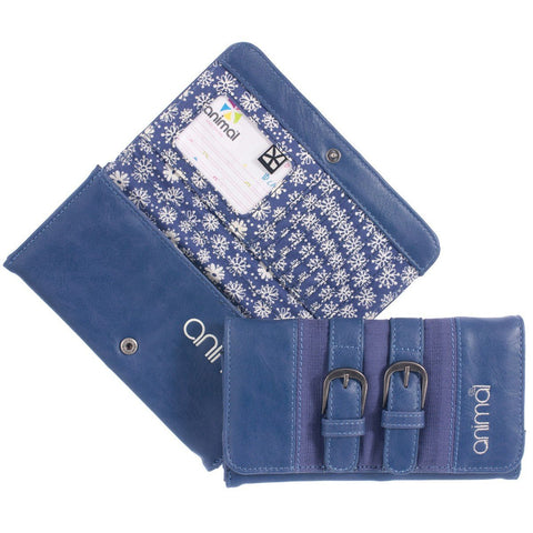 Animal Amy PU Purse - Blue Indigo