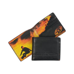 Animal Mens Leather Wallet Kiss It Wallet Black