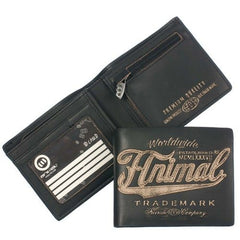 Animal Mens Infiltrator Leather Wallet