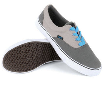 Urban Beach Mens Lace Up Canvas Pumps - Grey