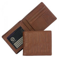 Animal Mens Ballistic Leather Wallet